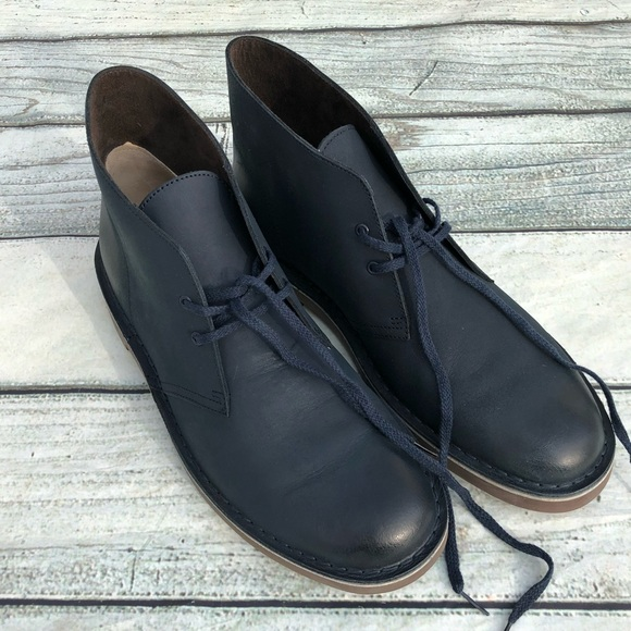 0150bc5b95f Like New Clarks Bushacre 2 navy leather boots 11